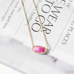 Kendra Scott Elisa Gold Pink magenta Necklace new
